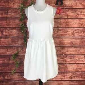 Madewell Fringed Afternoon Sleeveless Dress Large